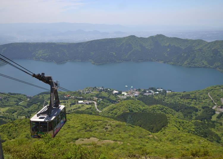 將蘆之湖的美景盡收眼底的駒之岳空中纜車