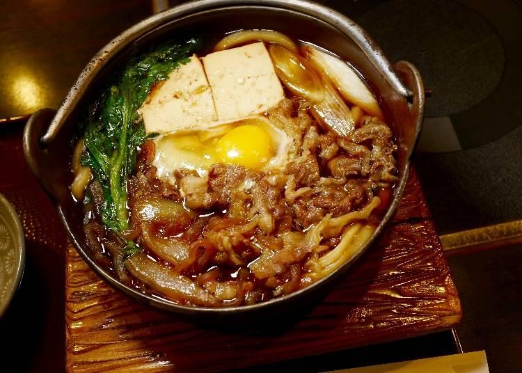 壽喜燒烏龍麵(スキヤキなべうどん)1100 日圓