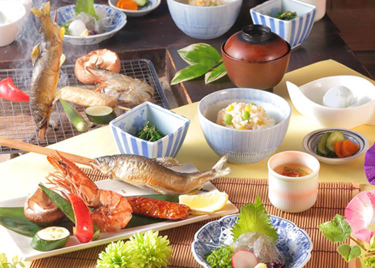 使用大自然恩惠食材的日本料理