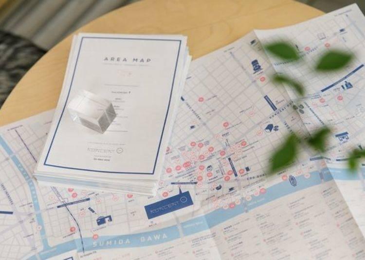 有了這張地圖,就能走遍蔵前每個美麗的角落