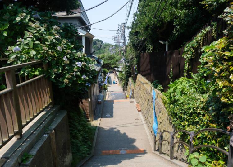 飄散懷舊氣息的御岩屋道通,道路兩側也有幾間土產或飲食店營業