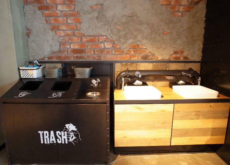 在用餐區旁還有洗手台,非常方便