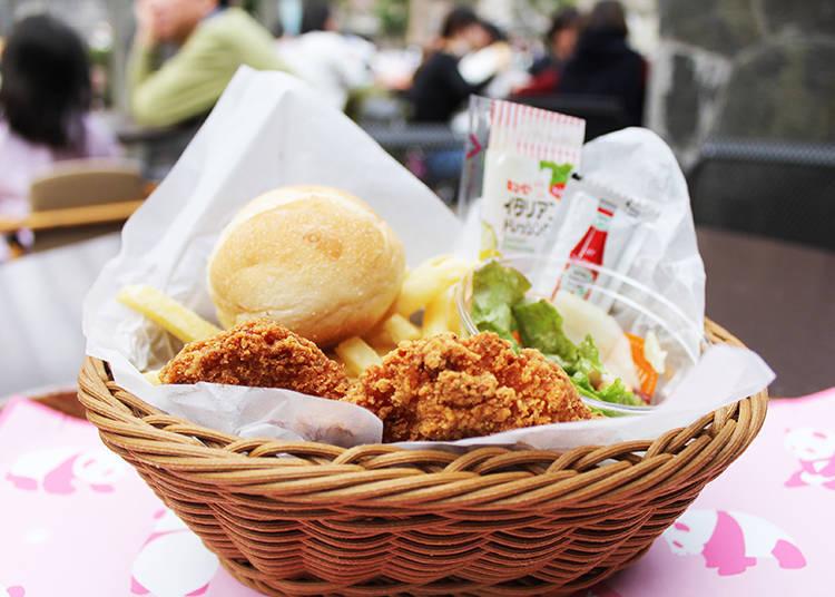 人氣菜單「炸雞麵包套餐」(含稅750日圓)