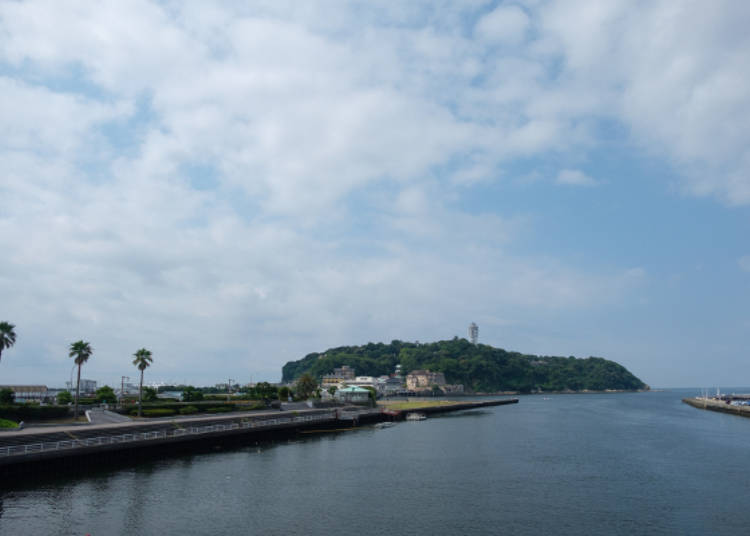 「江之島弁天橋」「江之島大橋」的終點就是江之島了