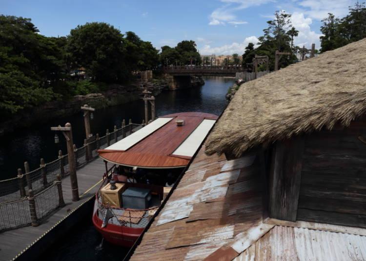 失落河三角洲的迪士尼海洋渡輪航線乘船處