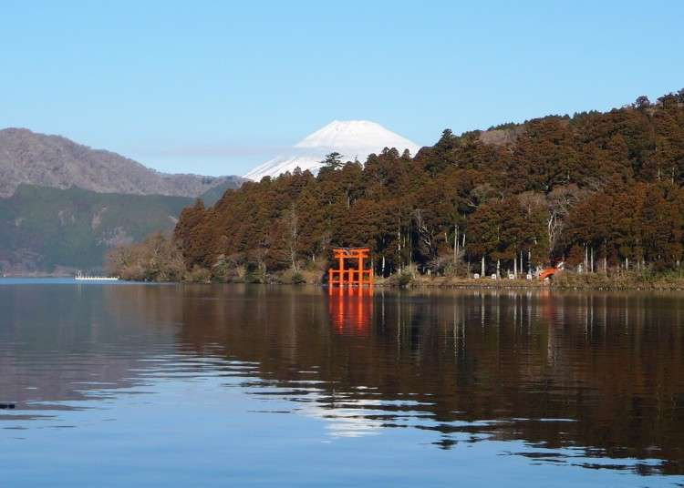 箱根超人氣景點一個也少不了,通通在這裡!箱根主要的觀光景點地圖