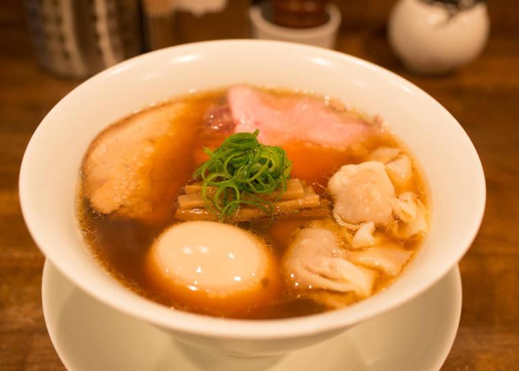 ▲特製醬油拉麵 1100日圓(含稅)