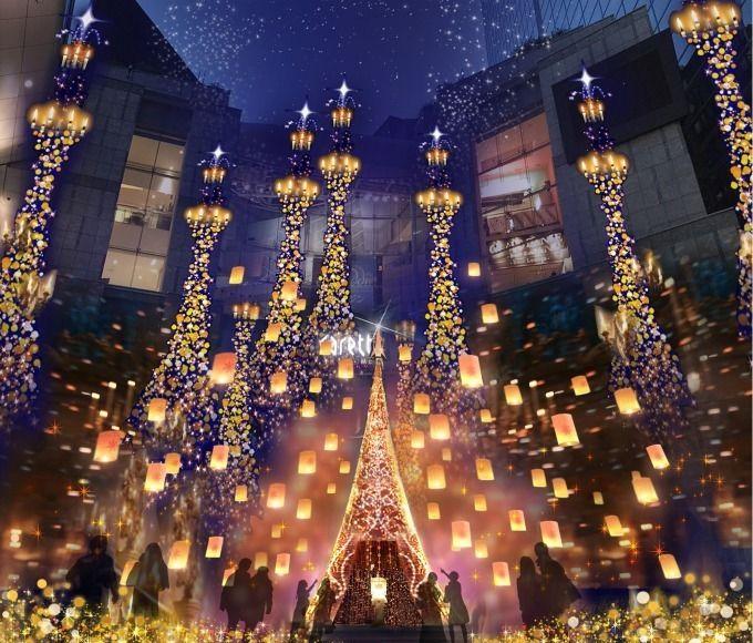 2019年 冬季燈飾 汐留Caretta