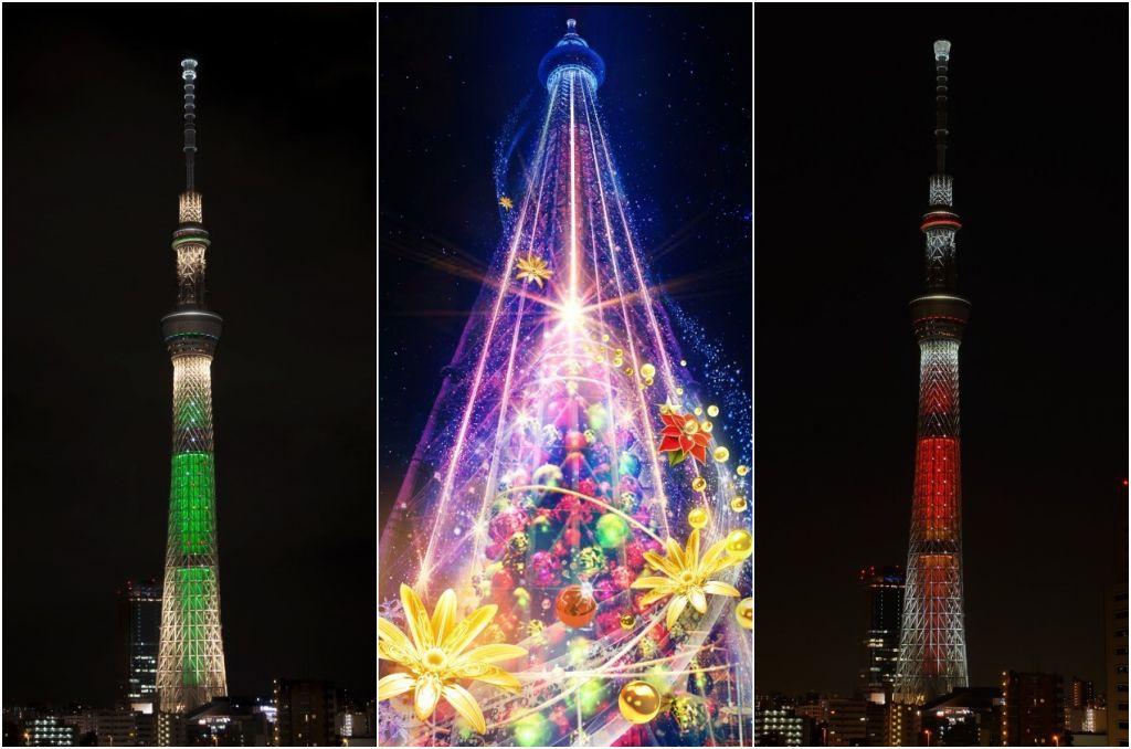 skytree 晴空塔冬季點燈