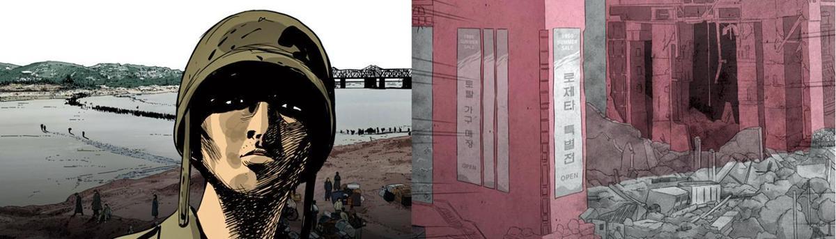 自2011年開始連載的Webtoon漫畫《STEEL RAIN》,探討南北韓關係與核武問題,後改編成電影。(翻攝自Naver Webtoon)
