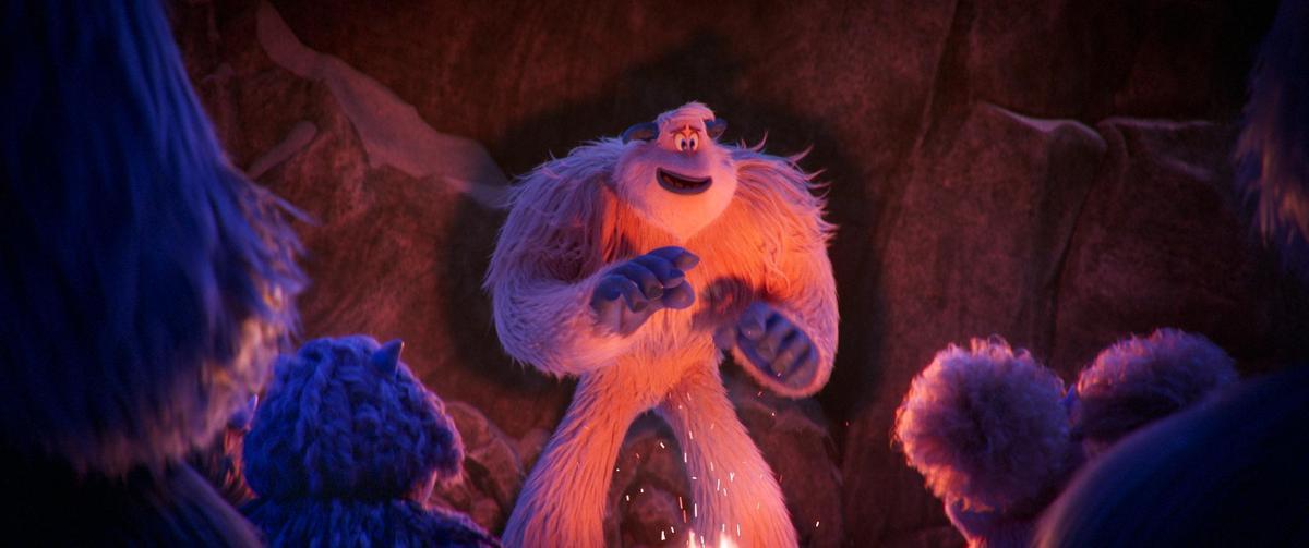 動畫電影《小腳怪》是關於友情、勇氣與發現新事物的歡樂故事,由查寧塔圖等人擔綱幕後配音。(華納兄弟提供)