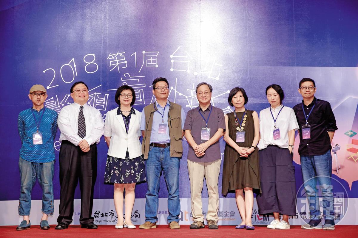 目的在媒合資金與人才的第一屆台北影視音創投會5月29日舉行開幕式,有許多影視界、音樂界及出版界人士力挺。