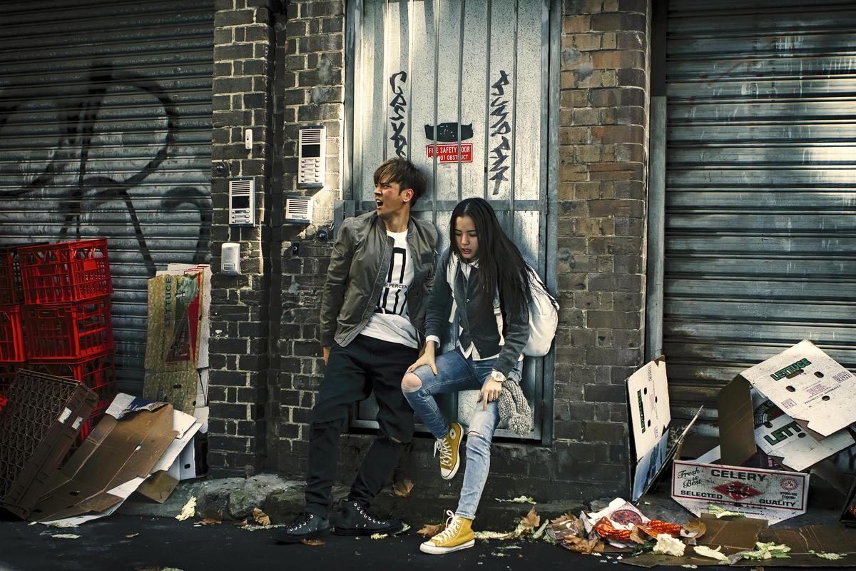成龍很開心能跟兩位年輕演員的首次合作,成龍覺得跟年輕人合作,心境也變年輕了。(威視電影提供)