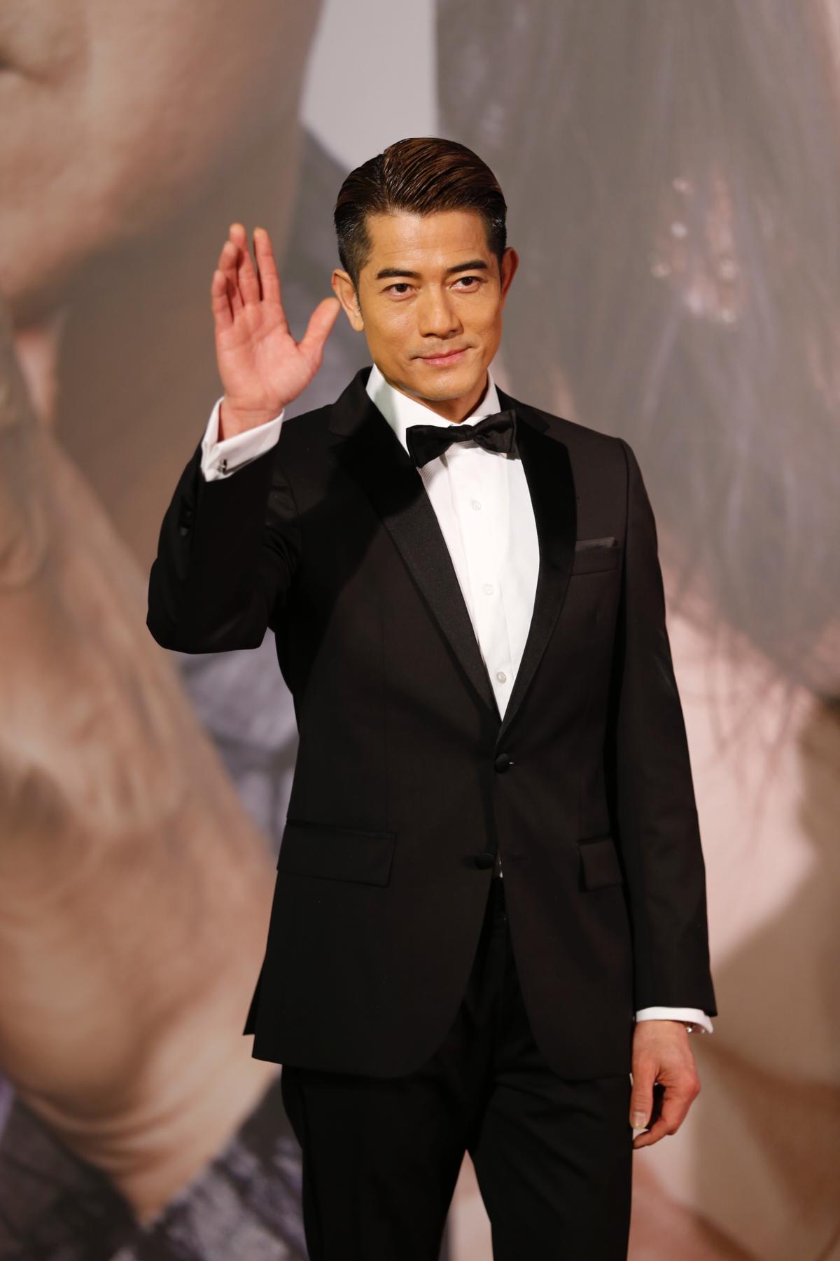 《無雙》的另一位男主角周潤發未出席頒獎,只好由郭富城撐大局。(IC PHOTO)