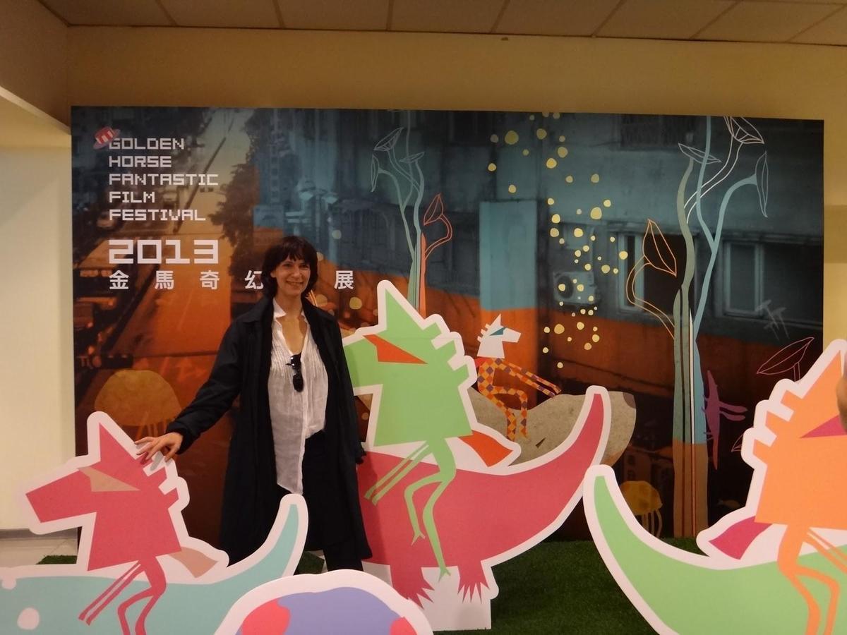 亞曼達普拉瑪2013到台灣來,適逢奇幻影展播放《真善美》及她演出的《黑色追緝令》。(金馬執委會提供)