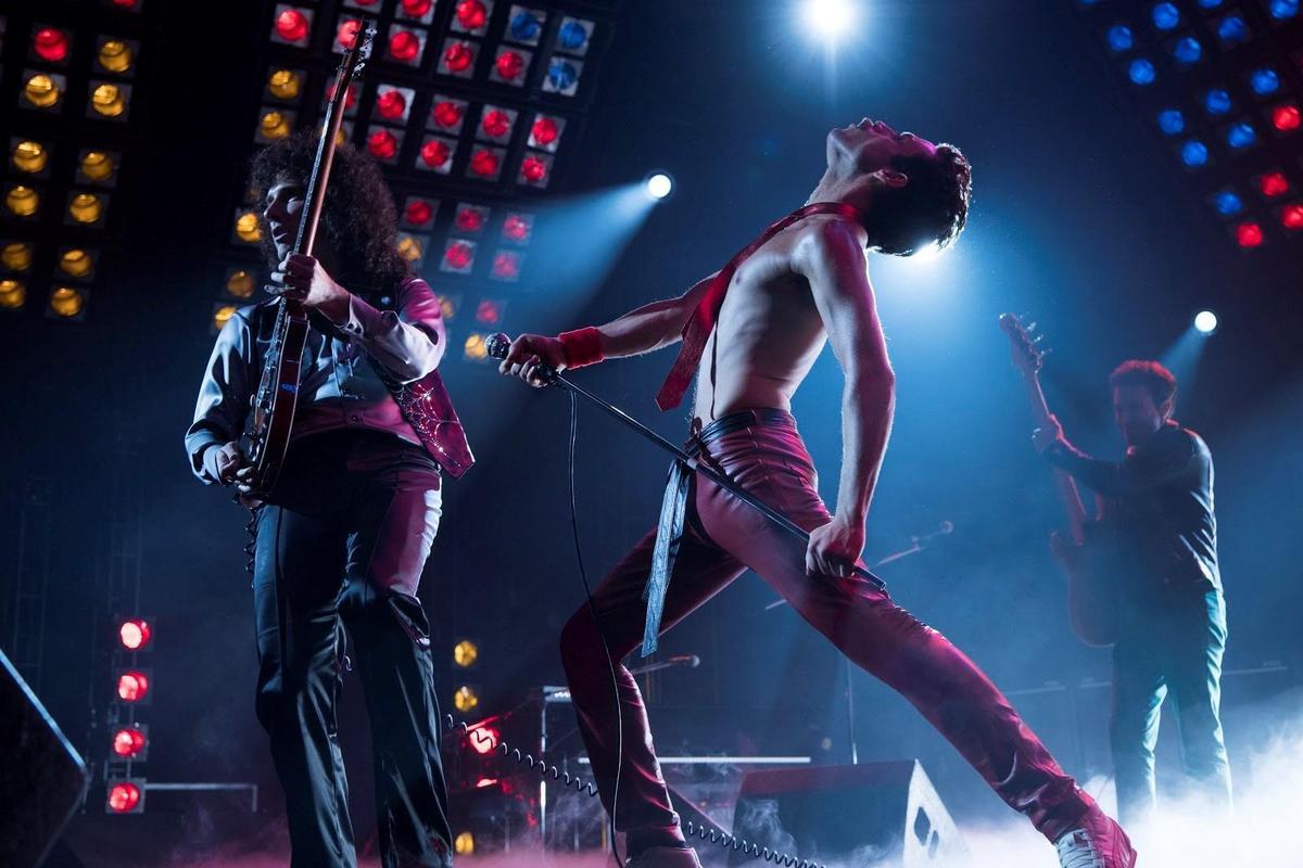 《波希米亞狂想曲》描述皇后合唱團主唱佛萊迪墨裘瑞崛起樂壇的故事,該片入圍最佳影片,男主角(中)雷米馬利克也獲男主角提名。(福斯提供)