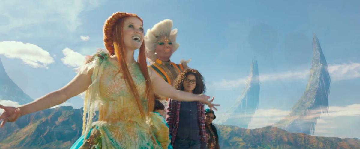 迪士尼《時間的皺摺》儘管有瑞絲薇絲朋、歐普拉等人演出,仍救不起票房。(翻攝自預告)