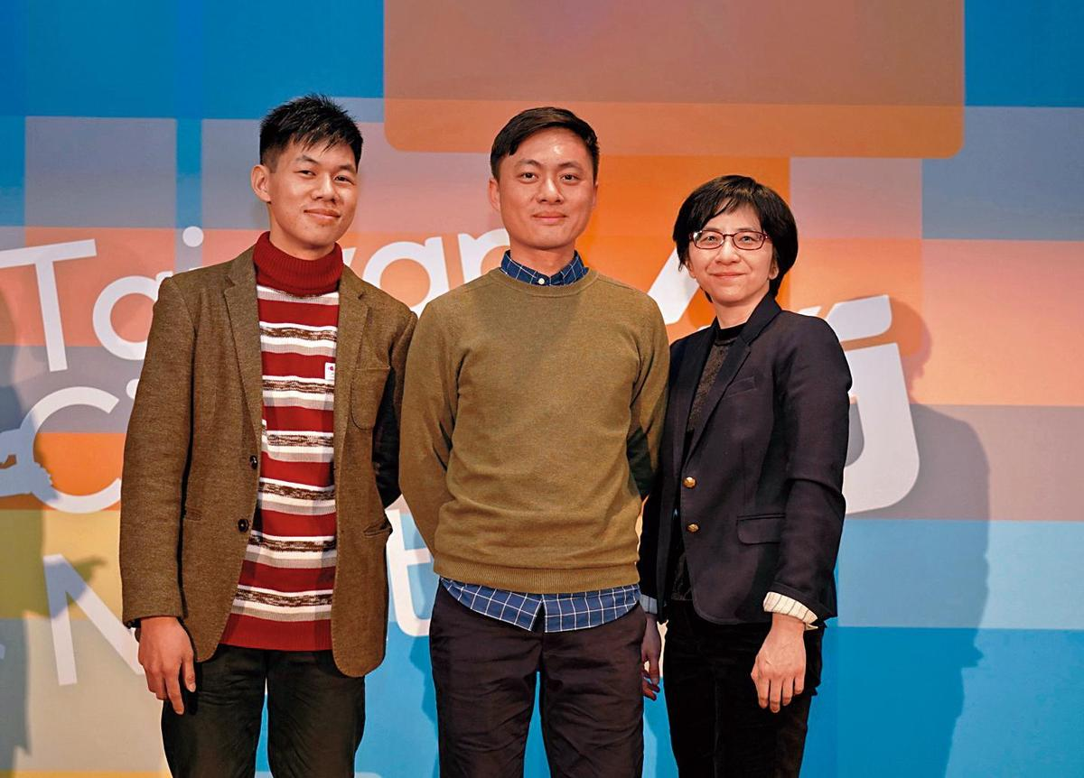 美術指導謝明仁(左起)、導演練建宏和配樂許瑋珊入選今年柏林影展新銳營。(國家電影中心提供)