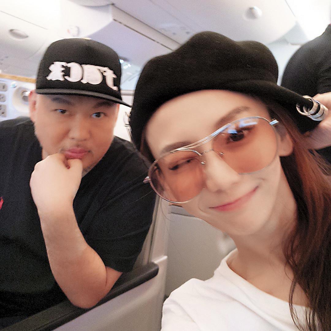之前劉喬安曾和夜店大亨莊起鳴(左)有過一段情,後來劉喬安又當DJ,關係引發外界討論。(翻攝自劉喬安IG)