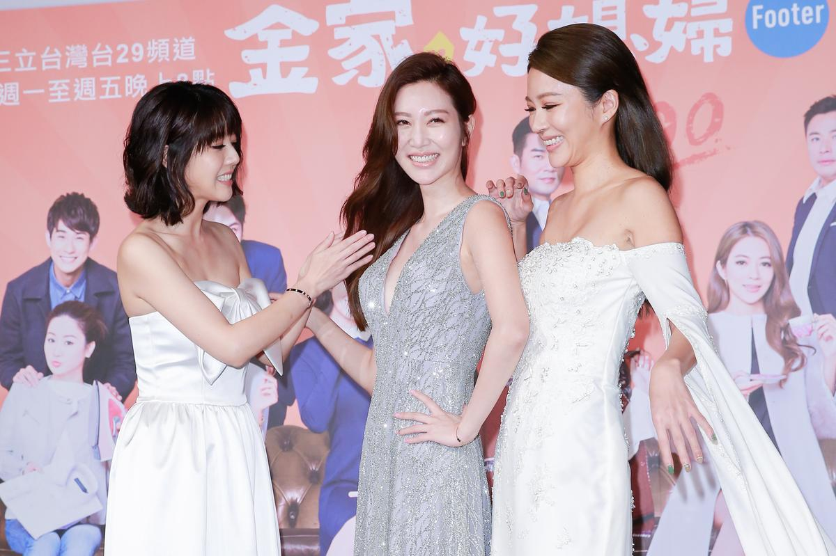韓瑜(左起)、曾莞婷、高宇蓁是八點檔台劇的三大女神。