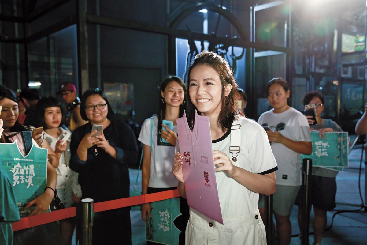 力挺師弟蔡凡熙,宋芸樺驚喜出現在《痴情男子漢》台北告白簽名會。