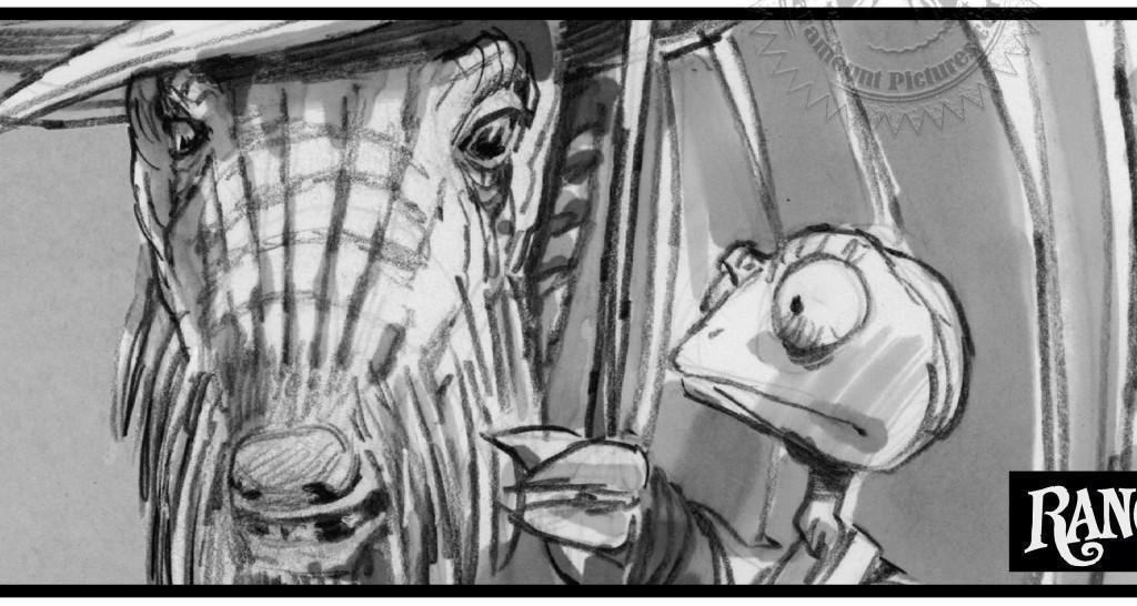 動畫片的製作流程很獨特,分鏡插畫家要蒐集更多資料,圖為戴夫勞瑞參與的動畫長片《飆風雷哥》的劇照和分鏡圖。(翻攝自animationguild.org)