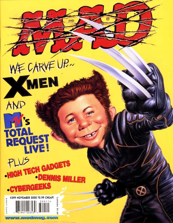 以卡通、電影為主題的《瘋狂雜誌》為戴夫勞瑞打下繪圖基礎。(翻攝自dvdbash.com)