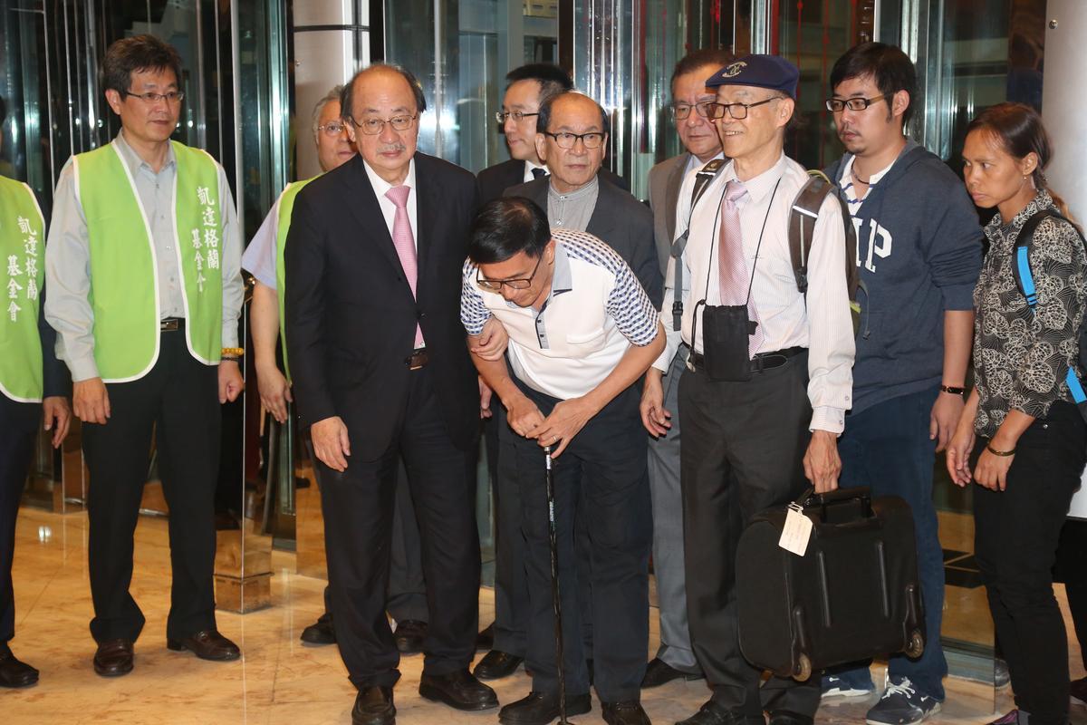 陳水扁在晚間7時30分左右到達會場。