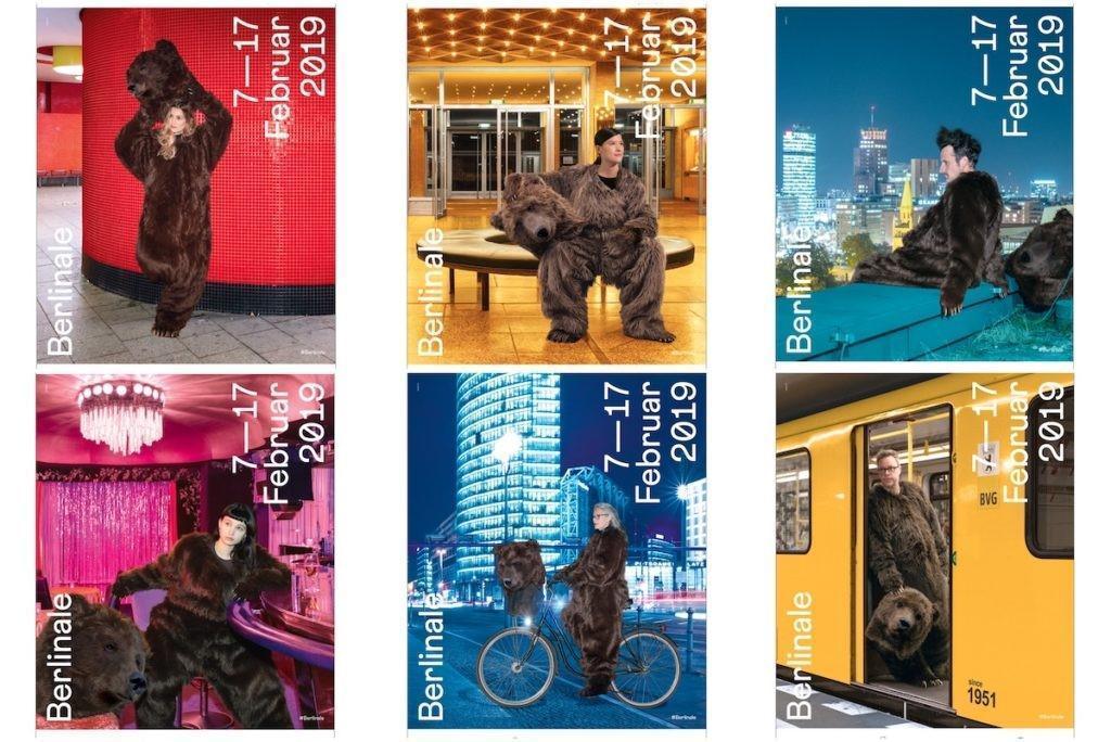 明年第70屆柏林影展將移至2月底才舉行,圖為今年主辦單位推出的6款海報。(翻攝自官網)