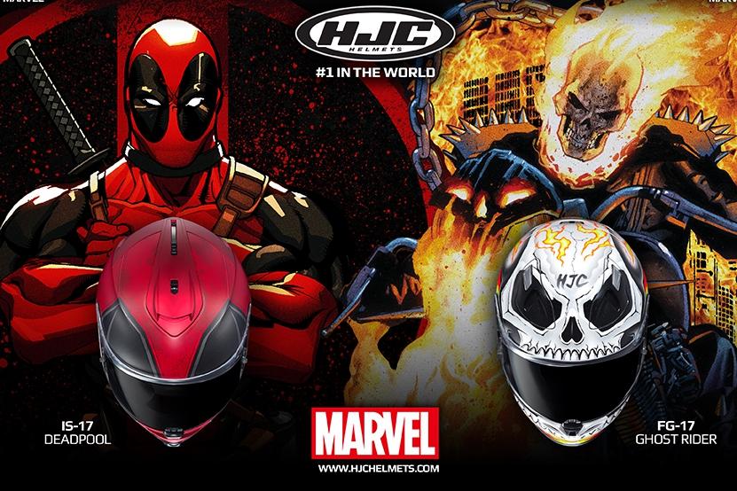 HJC X Marvel 聯名系列:死侍/惡靈騎士