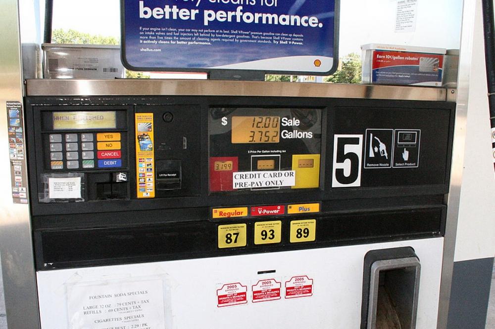 美國汽油等級分別為93、89、87。