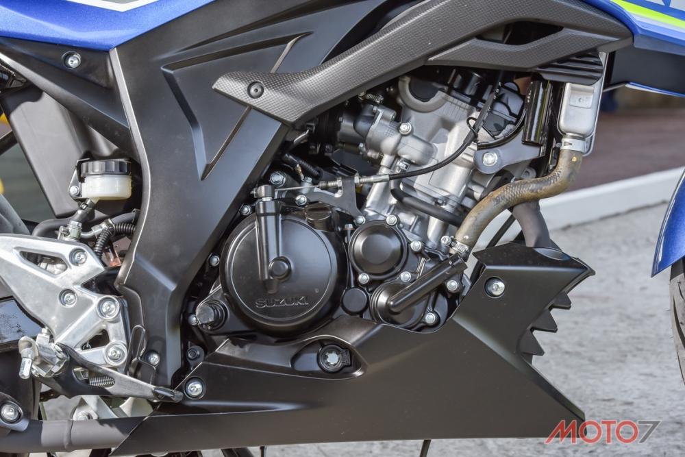SUZUKI GSX-R150/S150擁有一顆小而精巧的引擎。