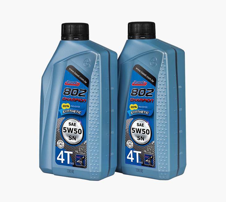 802 Champion 採用粉藍色的包裝,在機油當中算是較為少見的色彩。