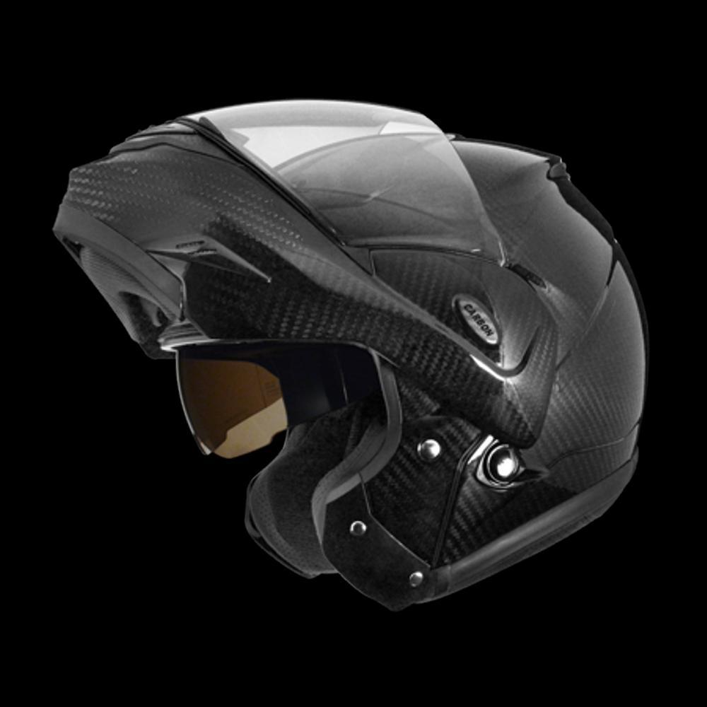 ZEUS ZS-3500採用碳纖維材質打造,即便多了可掀式機構,重量上仍與一般全罩差異不大。