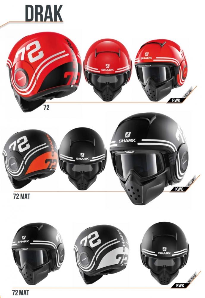 SHARK近年推出造型獨特的四分之三安全帽,廣受車友的喜愛。