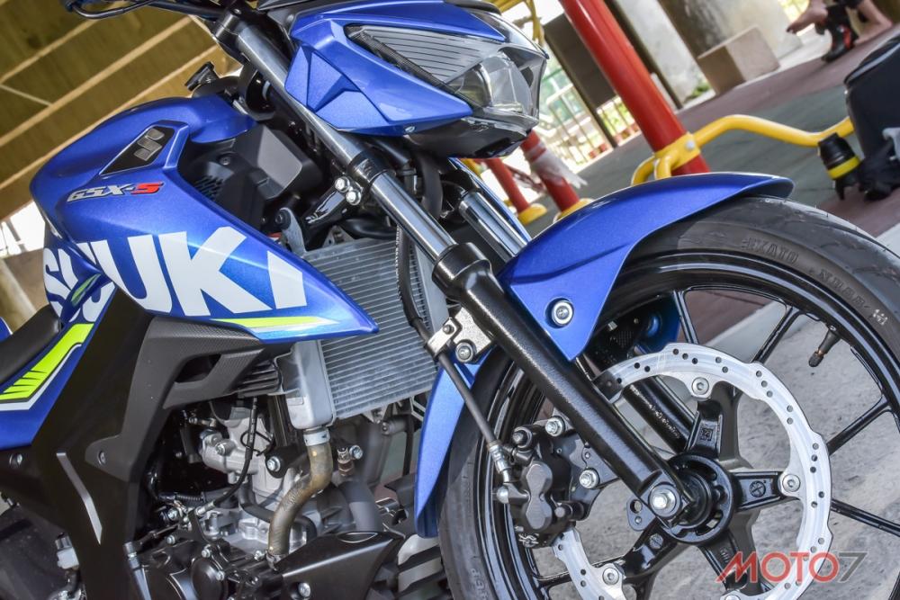 碩大的水冷排,支持著SUZUKI GSX-R150/S150引擎穩定發揮19.2ps馬力。
