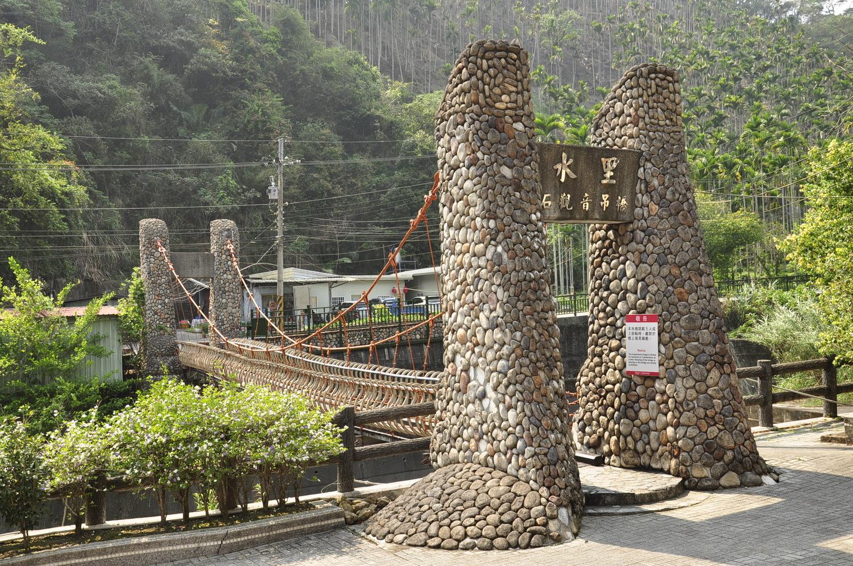 吉仙宮旁石觀音吊橋。  圖:蕭沛涵/攝