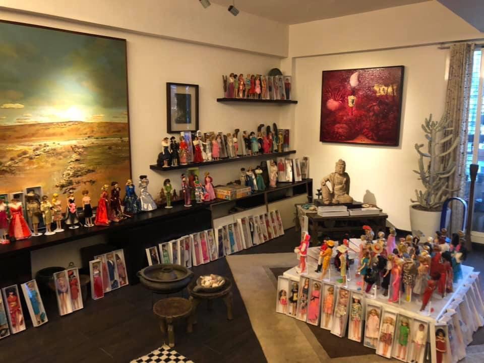 台西海口故事屋內部,現正開辦「童心看世界、夢幻娃娃玩具展」。圖:台西 海口故事屋臉書/提供