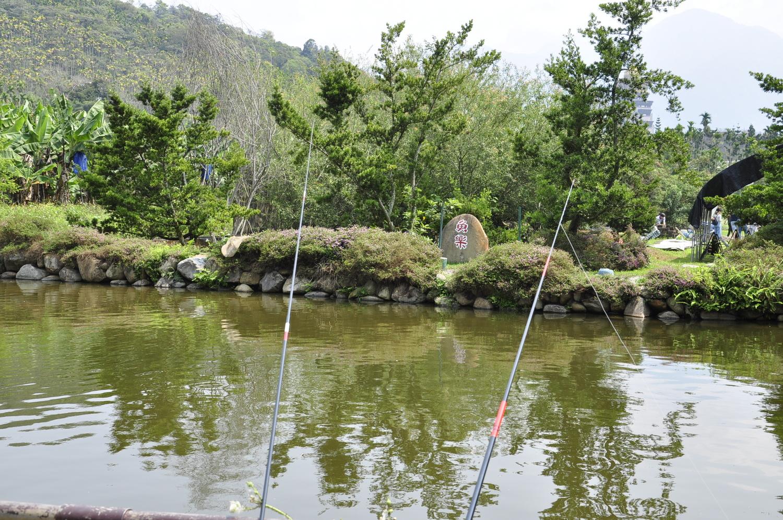 現場有釣魚池,也可見白魚生態復育池。 圖:蕭沛涵/攝
