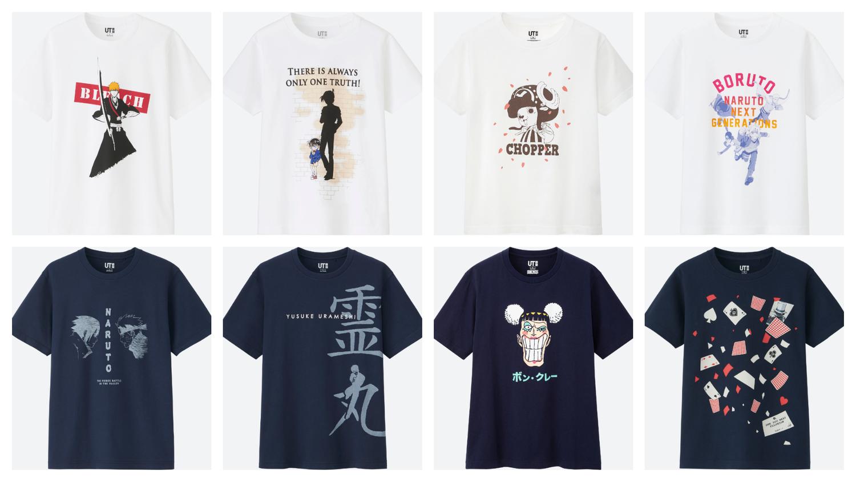 日本平價服飾Uniqlo推出全新UT-MANGA系列,首發以14部經典漫畫系列為主題,將經典台詞與角色融入T-Shirt設計當中。圖:業者提供/新頭殼合成圖