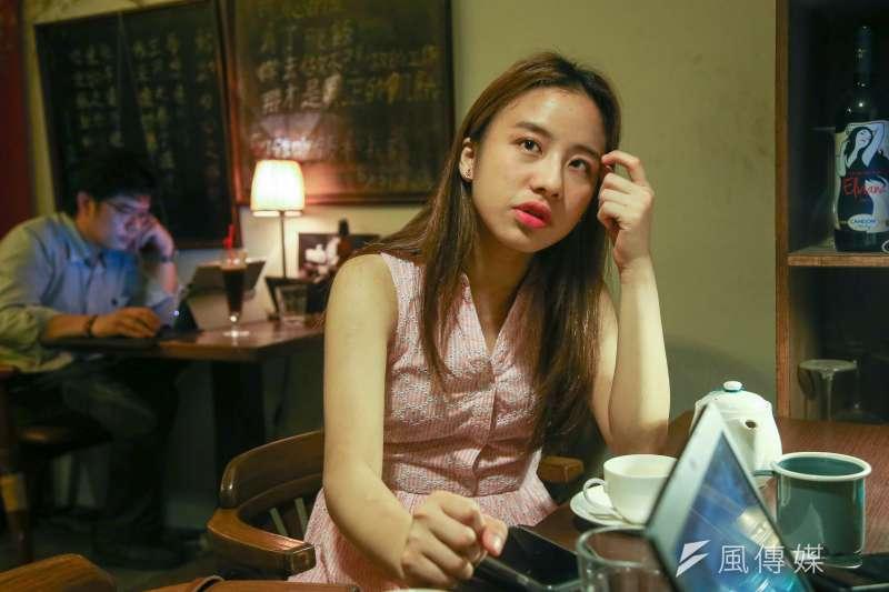 20180508-由香港街頭到美國校園,紀錄片《地厚天高》導演林子穎專訪。(陳明仁攝)