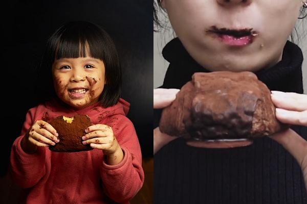 紅片亞洲各地的「髒髒包」,將麵包外層圖上巧克力醬再灑滿可可粉,讓人品嘗時絕對會沾滿嘴,形成髒兮兮的樣貌使人發笑,也成為網路上熱門的話題食品(圖/semeur聖娜、Our Bakery)