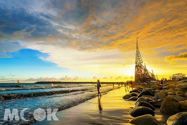 漁光島絕美的沙灘與夕陽美景。 (圖/molly888666)