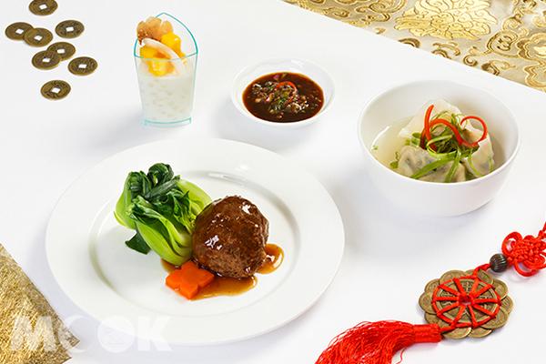 杜拜國際機場貴賓室農曆春節菜單。