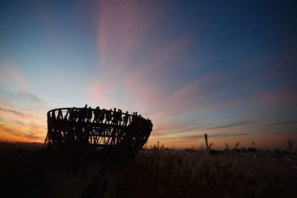 首爾天空公園可以欣賞到迷人的首爾市遠景。