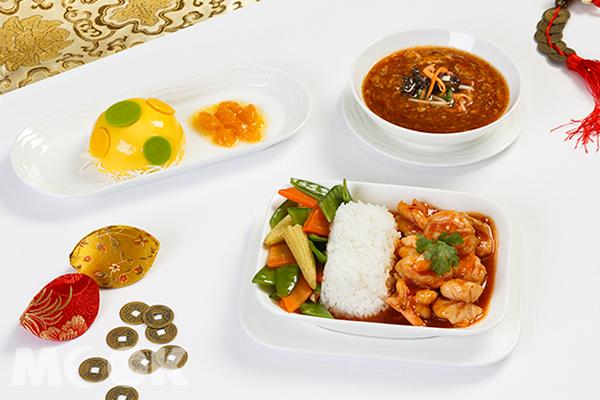 阿聯酋航空商務艙農曆春節餐點。
