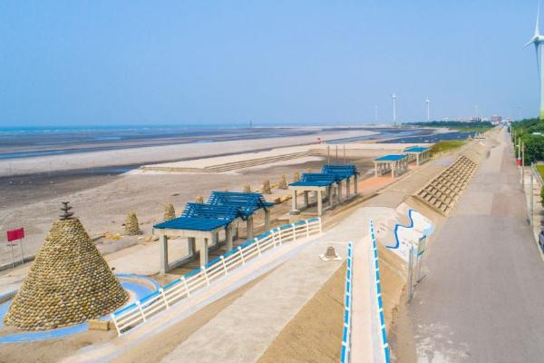 大安海水浴場。 (台中市政府)