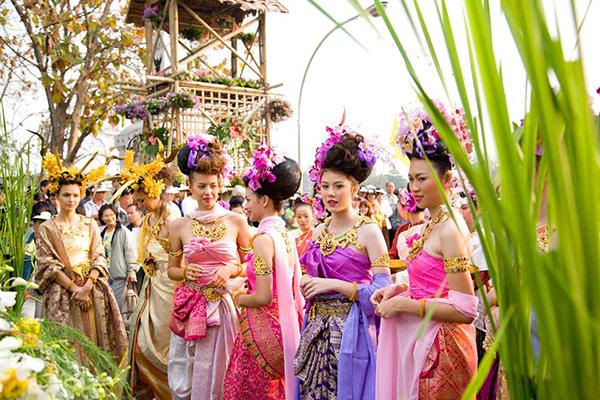 泰國2月時的清邁花卉節活動。
