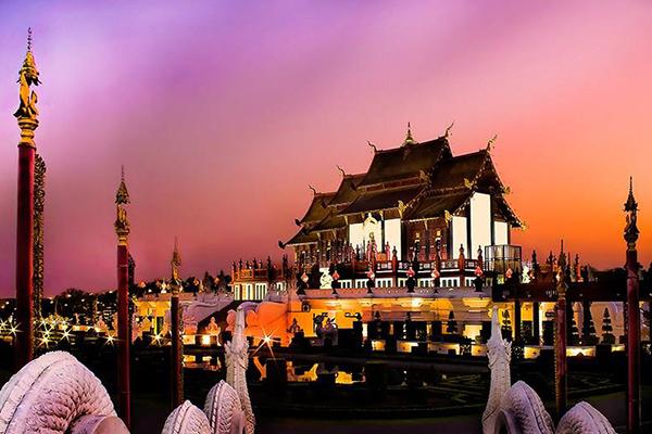 泰國清邁的拉查帕皇家花園之皇家別館。