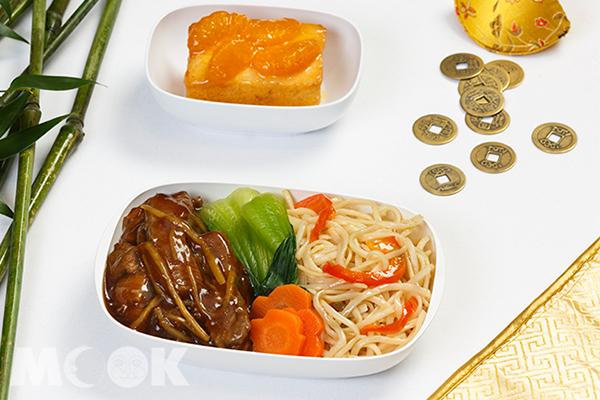 阿聯酋航空經濟艙農曆春節餐點。(圖/阿聯酋航空,以下同)